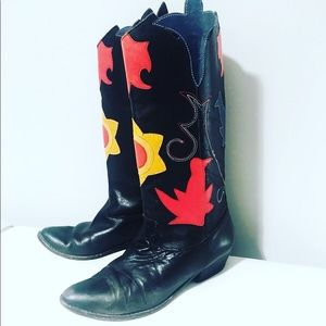 Vintage Abstrax Leather Boots